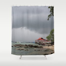 STORM OVER THE HORIZON Shower Curtain