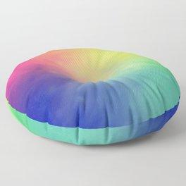 Rainbow aura Floor Pillow