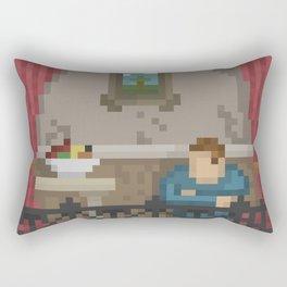 Pixel New York Balcony. Rectangular Pillow