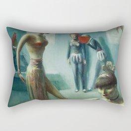 'At the Dance Audition' portrait painting by Guy Pène du Bois Rectangular Pillow