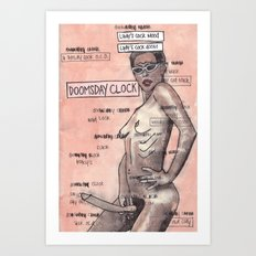 Doomsday Clock / Lady's Cock Doom Art Print