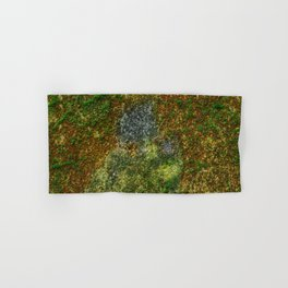 Old stone wall with moss Hand & Bath Towel