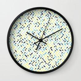 Lemon and Ink Wall Clock