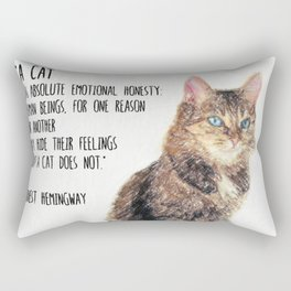 Cat Quote By Ernest Hemingway Rectangular Pillow