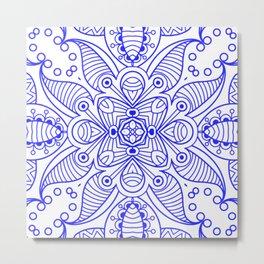 Mindful Mandala Pattern Tile MAPATI 116 Metal Print