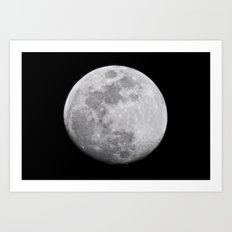 Moon #lunar Art Print