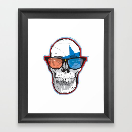 The 3D Star Punk Framed Art Print