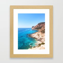 236. Perfect Beach, Greece Framed Art Print