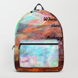 Gandhi Inspirational Quote about Love, Life & Hope Backpack