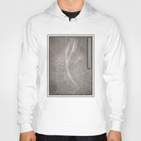 budapest Hoodies featuring papercut - Budapest by Colin Kiss