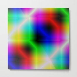 It is a colorful beautiful gradation. A gradation that is intricately intertwined. Metal Print