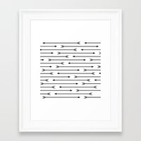 arrows Framed Art Prints featuring Arrows  by Paint Me Pink