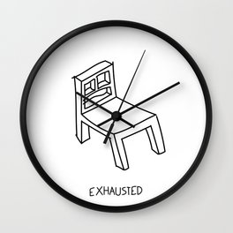 Bad Perspective Chair Wall Clock