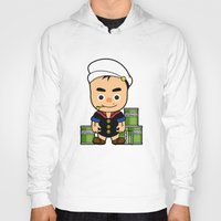 popeye Hoodies featuring Popeye  by Jefferson Ng
