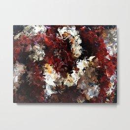 Jasmine and Columbine Abstract Metal Print