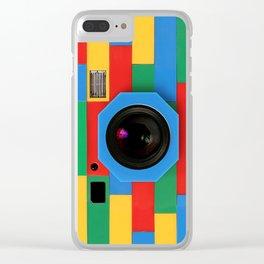 rainbow retro classic vintage camera toys Clear iPhone Case
