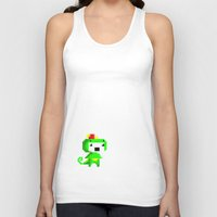 fez Tank Tops featuring Rawr played Fez by Leilei Pan