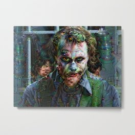 Trippy Joker made with machine learning Metal Print