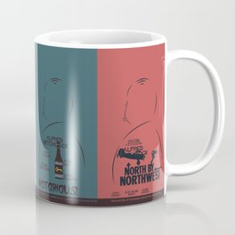 Four Hitchcock movie poster in one (Psycho, The Birds, North by Northwest, Notorious), cinema, cool Coffee Mug