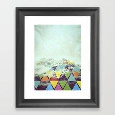 Triangle Mountain Framed Art Print