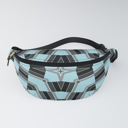Black and blue geometric pattern Fanny Pack