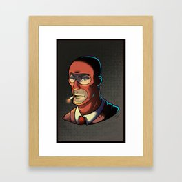 Red Spy! Framed Art Print