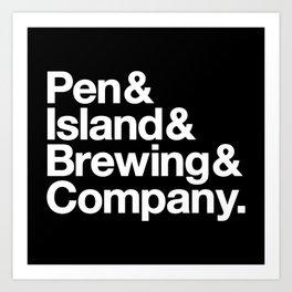 Pen&Island&Brewing&Company Reverse Art Print