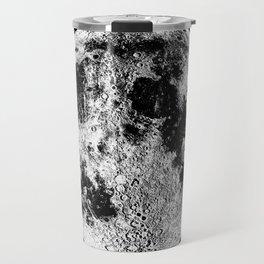 Black + White Full Moon, print by Christy Nyboer Travel Mug