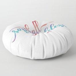 Softball Goddess Summer Ombre Floor Pillow