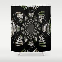 fractal Shower Curtains featuring Fractal by Aaron Carberry