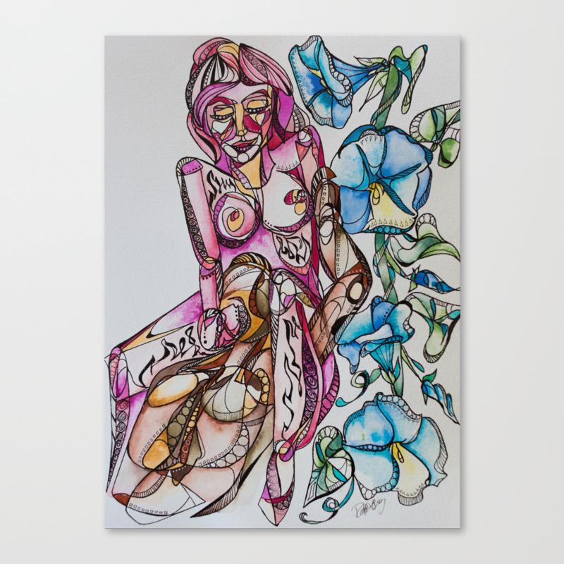 """""""""""goddess Between Your Legs"""""""" Canvas Print by Rachelsartprojects"""" CNV8246106"""