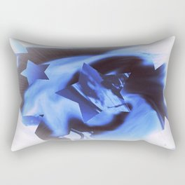 Starburts II cold blue Rectangular Pillow