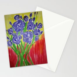 Purple Rose Bouquet Stationery Cards