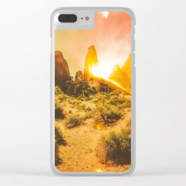amante del sol Clear iPhone Case