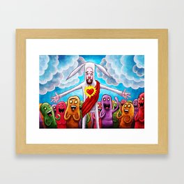 Bunny Christ Supah Stah Framed Art Print
