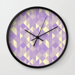 Coloured Sepia Geometric Glass Pattern Wall Clock