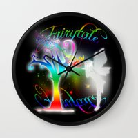 fairytale Wall Clocks featuring Fairytale by Augustinet