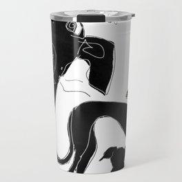 Pixel mural Travel Mug