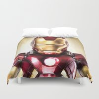 heroes Duvet Covers featuring HEROES SERIES by NOXBIL