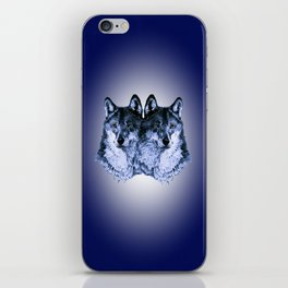 Season of the Wolf - Duet in Sapphire iPhone Skin