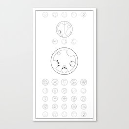 Wanted poster - Gallifreyan script Canvas Print