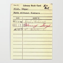 LibraryCard 510 Math Without Numbers Poster