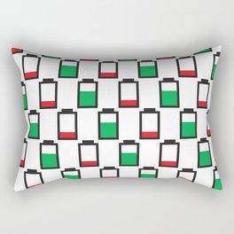 Power Up Negative Rectangular Pillow