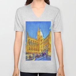 Bath Abbey Pop Art Unisex V-Neck