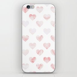Pink Marble Hearts iPhone Skin
