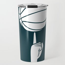 Basketball spinning on a finger Travel Mug