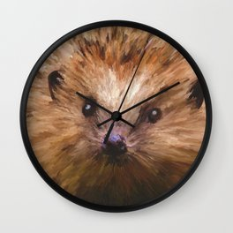 Hedgehog in the Grass Wall Clock