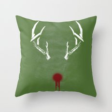 Rudolph the Bloody Nosed Reindeer Throw Pillow