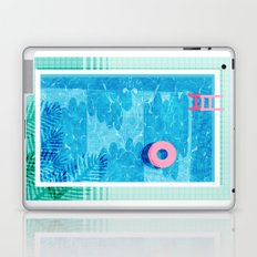 Chillin' - poolside palm springs vacation resort tropical swim swimming retro neon throwback 1980s Laptop & iPad Skin