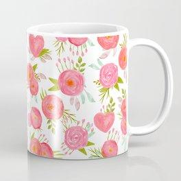 watercolor pink hearts Coffee Mug